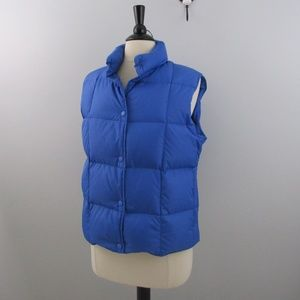 L.L. Bean Blue Down Puffer Vest